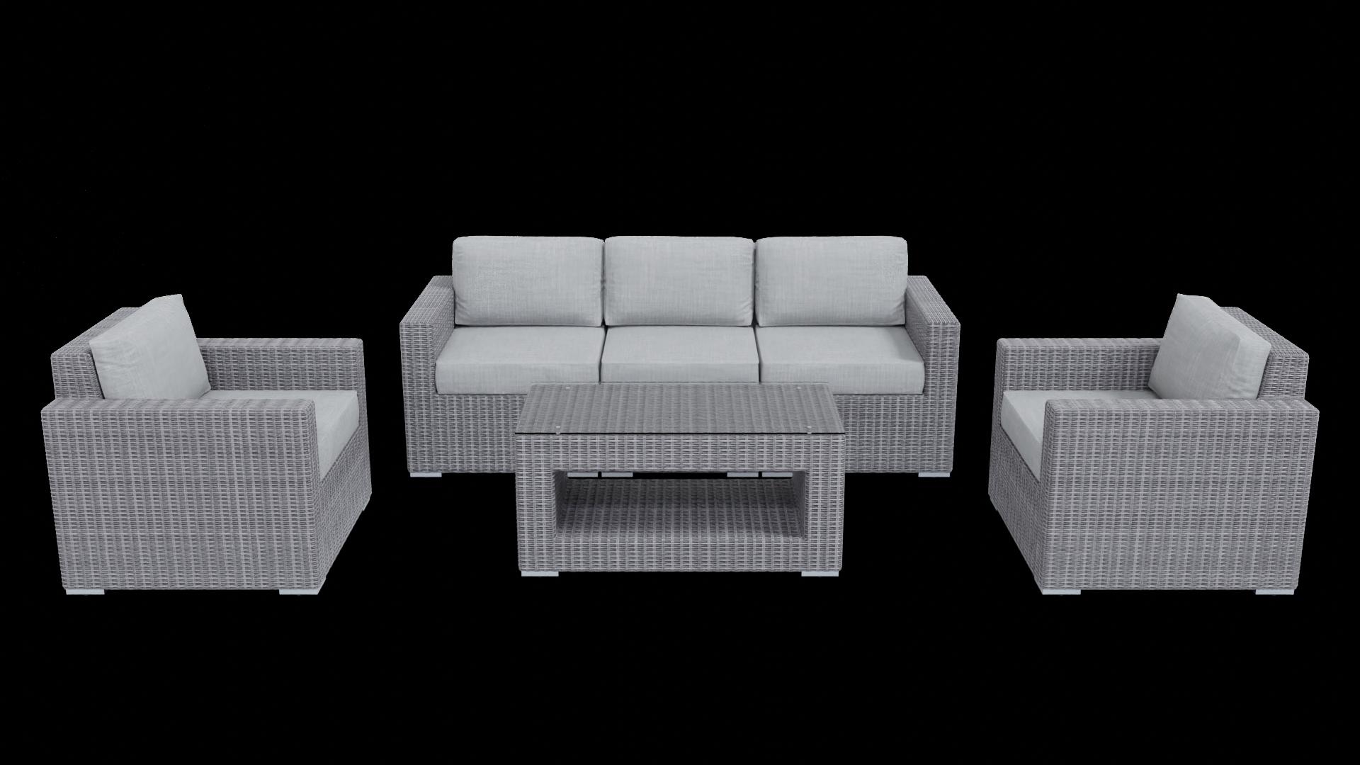 light gray rattan conversation outdoor furniture