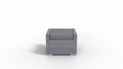 rattan footrest furniture with charcoal cushion