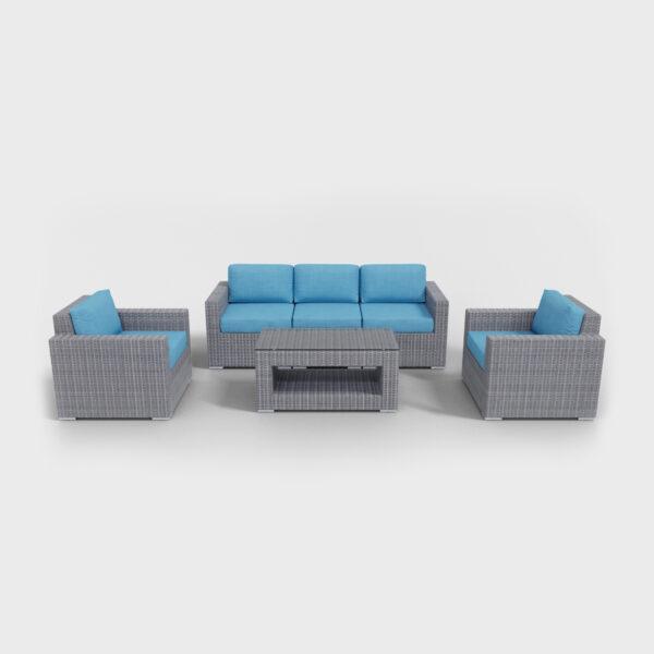 conversation 6 piece rattan furniture