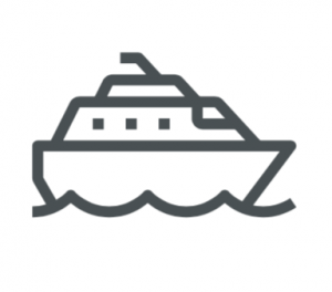vector drawing of a ship on sea