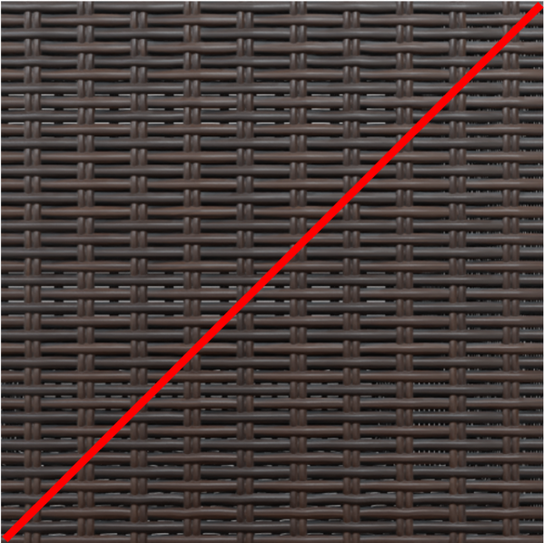 rattan brown color crossed out with red line