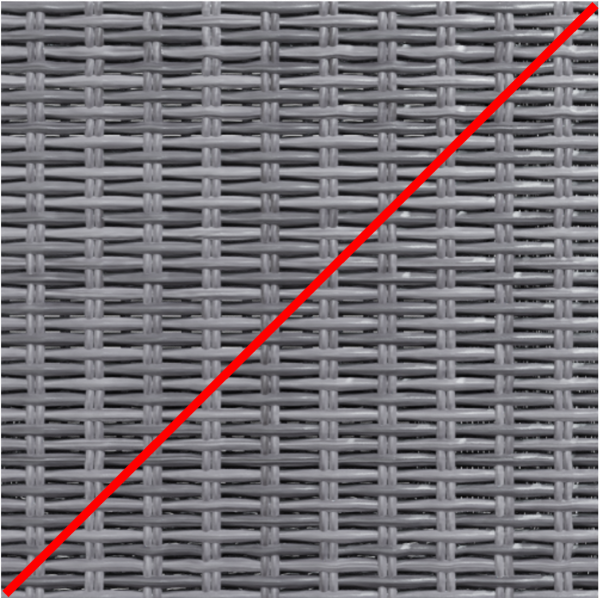 rattan gray color crossed out with red line