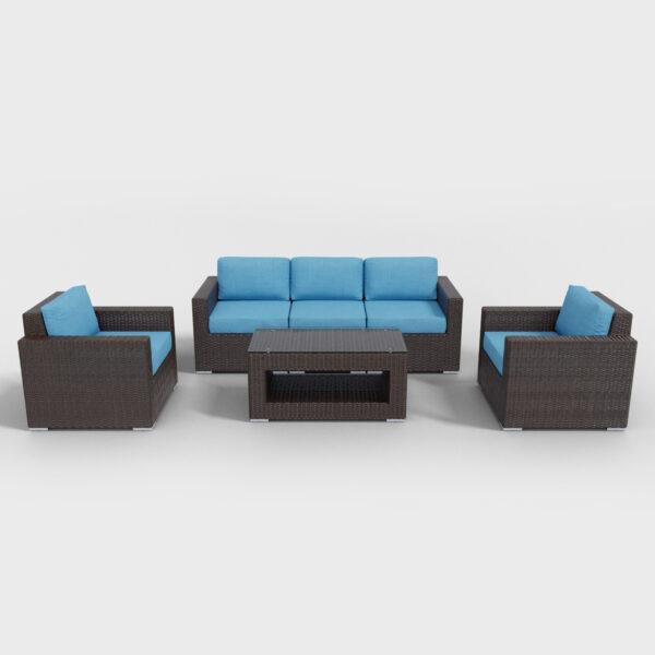 brown conversation 6 piece rattan furniture
