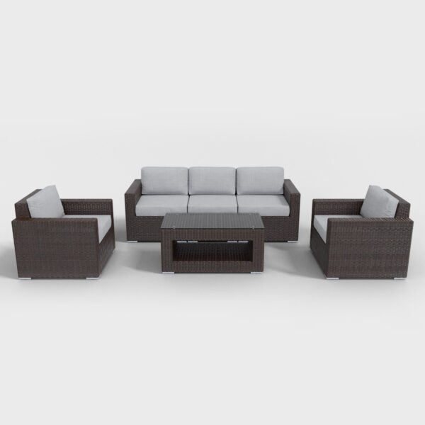 gray conversation 6 piece rattan furniture