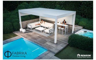 Bioclimatic pergolas over patio furniture sets